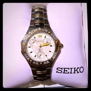 Women's Seiko diamond watch